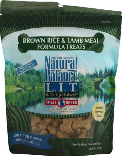 Brown Dog Treats - Natural Balance nb123 1 Pet Food L.I.T. Small Breed Treats for Dogs Brown Rice & Lamb - 8 oz (Pack of 2), Green