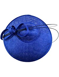 Fascinator Hats for Women 3 Layers Sinamay Wide Brim Hat Kentucky Derby Wedding Headband Tea Party