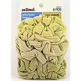 Scunci Color Match Mixed Knit Twister Blonde Hair Scrunchies - 8 Pcs.