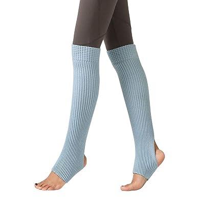 FAMILIZO Calcetines Mujer Muslo Punto Calentadores De Piernas Yoga Calcetines Funda De Botas Leggings Calcetines De Arranque Flexible Tobilleros ...