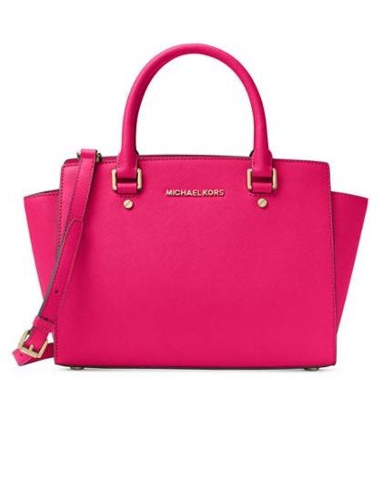Michael Kors Selma Medium Leather Satchel - Ultra Pink