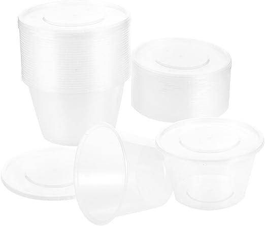 24-Pack fiambreras de plástico con tapas – Ronda Contenedores, sacar restaurante de comida contenedores de almacenamiento de alimentos, microondas, congelador, apta para lavavajillas, 33,8 oz: Amazon.es: Hogar