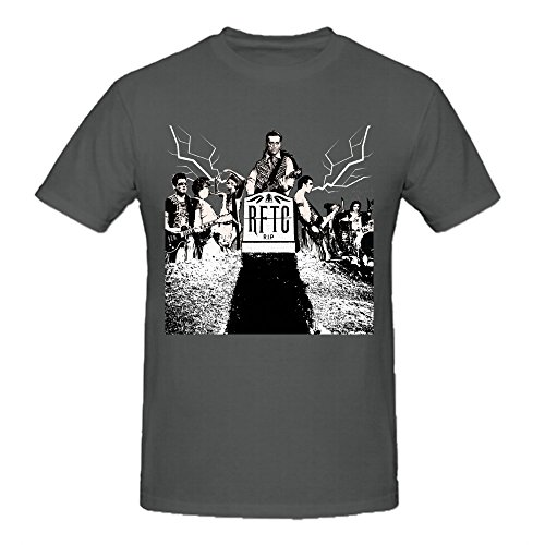 - Rocket From The Crypt Rip Custom T Shirts Design Round Neck Grey