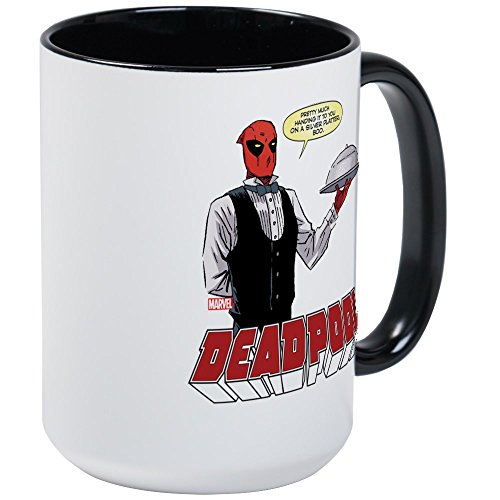 CafePress Deadpool Silver Large Mug Coffee Mug, Large for sale  Delivered anywhere in USA