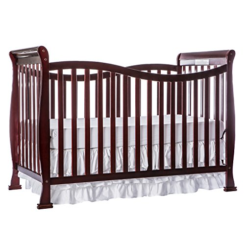 Dream On Me Violet 7 in 1 Convertible Life Style Crib, Cherry by Dream On Me