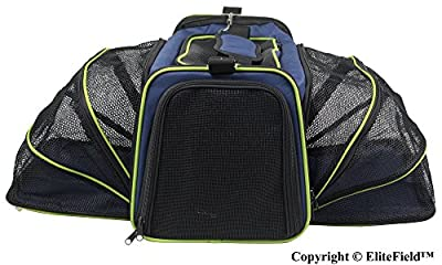 EliteField Expandable Soft Pet Carrier (3 Year Warranty, Airline Approved), Multiple Sizes and Colors Available by EliteField
