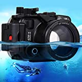 Uplord Underwater 40m Swimming Diving Waterproof Camera Case Diving Protective Housing Shell for Canon G7 X Mark II,Diving Shell+O Seal+Cleaning Cloth+Hand Strap+Neck Strap