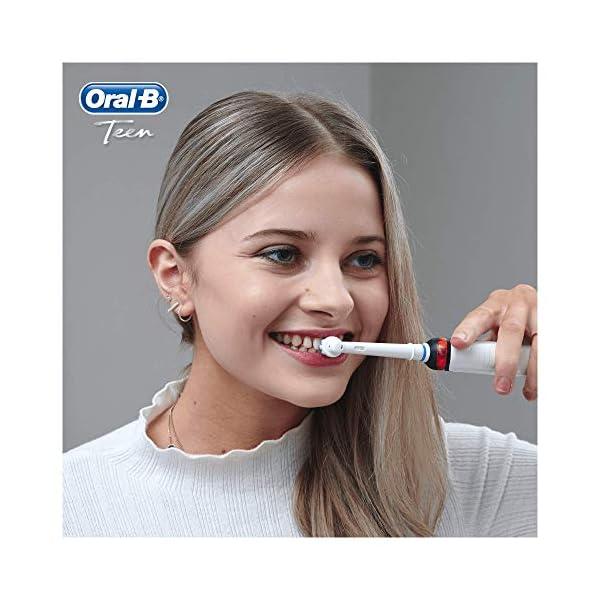 Oral-B Brosse à Dents Électrique Rechargeable, 1Manche Noir et 1Étui de Voyage Exclusif