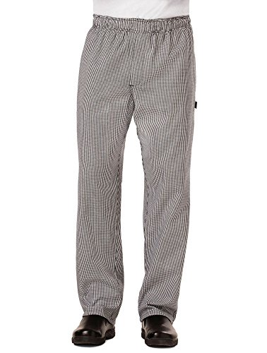 Dickies Chef Traditional Baggy Pant with Zipper Fly, Houndstooth, Small