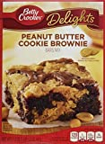Betty Crocker Delights, Peanut Butter Cookie Bownie Mix, 17.2 Oz Box (Pack of 8)