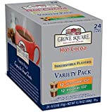 Grove Square Hot Cocoa, Irresistible Variety Pack, 24-Count Single Serve Cup for Keurig K-Cup Brewers