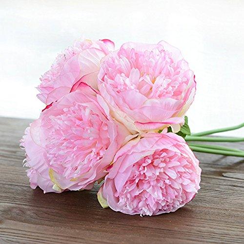 Artificial Fake Silk Daisy Flower Bouquet 1Bunch Green - 5