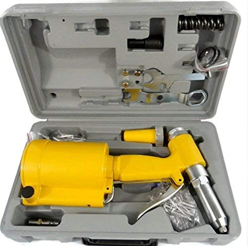Pneumatic Air Hydraulic Pop Rivet Gun Riveter Riveting Tool W/case