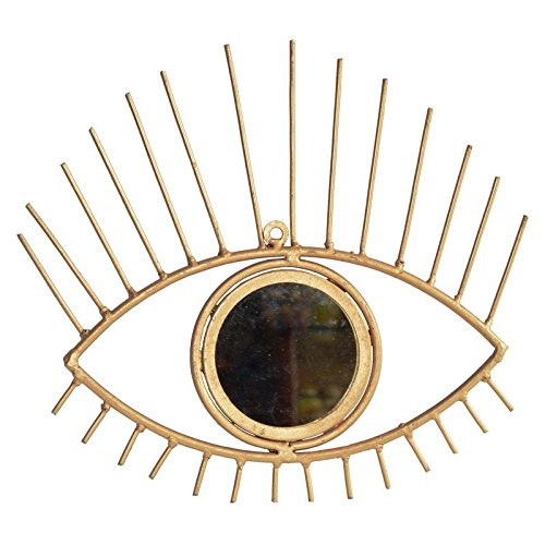Shrinath Handicrafts Iron Eye with Mirror for Wall Décor Home Decor Gift Item Wall Hanging Door Hanging ()