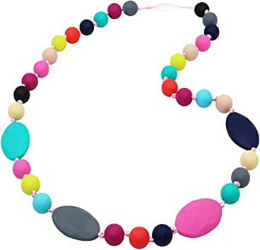 Teething Breastfeeding Nursing Chew Bead Necklace ADHD Autism SPD Jewelry USA