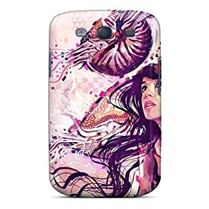 Fashionable Style Case Cover Skin For Galaxy S3- Colorful Lady