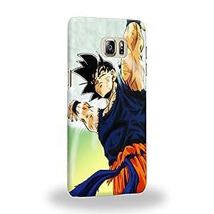 Case88 Premium Designs Dragon Ball Z GT AF Son Gohan Son Goku Genki dama Spirit Bomb Carcasa/Funda dura para el Samsung Galaxy S6 Edge Plus (no normal S6 Edge !)