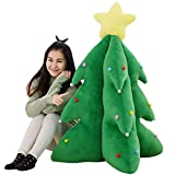 Creative Gifts Christmas Tree Kids Stuffed Doll Plush Toys Festive Home Bedroom Living Room Decoration Christmas Birthday Gift for Children (33cm)