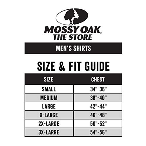 Mossy Oak Fishing Shirts for Men, Long Sleeve, Moisture Wicking, Sun Protection