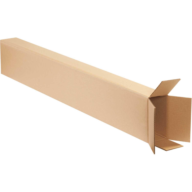 Test//ECT-32 Kraft 8x4x52 Side Loading Boxes 200 lb 15 Pack