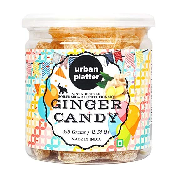 Urban Platter Ginger Candy, 350g [Vintage-Style Boiled Sugar Confectionery]