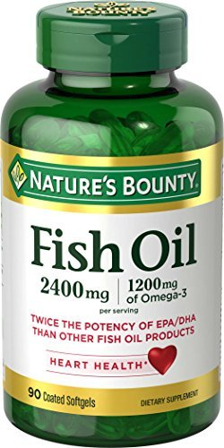 Nature's Bounty Odor-less Fish Oil 2400 mg Per Serving Softgels Double Strength 90 CP - Buy Packs and SAVE (Pack of 5) by Nature's Bounty