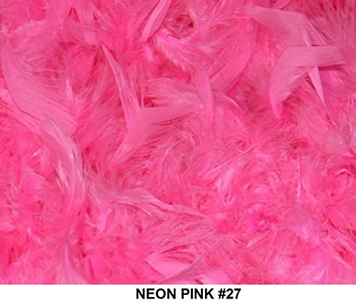 Cozy Glamour Solid Boas 6 Foot Long 50 Gram in a Variety of Shades Great for Parties, Crafts, and Fun! (Neon Pink #27)