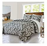 King Size Comforter Sets 110 X 96 Softesse Cotton Printed Quilt Set, King, Alfred