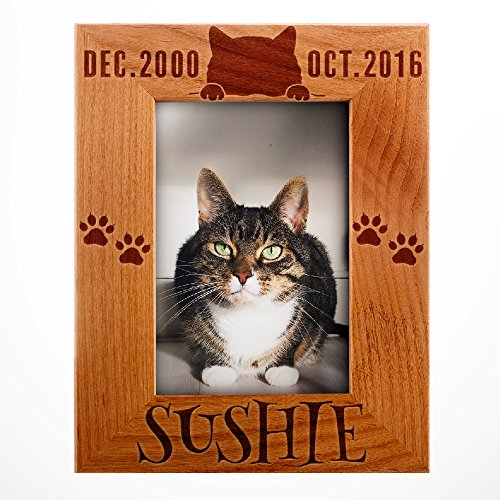 - Personalized Pet Memorial, Customized Picture Frame, Cat and Dog Wood Photo Frame - Custom Frame - Birthday Gift Size Options: 4x6 | 5x7 | 8x10 PC2