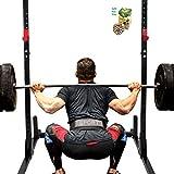 SpiritOne Power Rack Pull Chin-Up Workout Bars Squat Lift Strength Training 550LBs MAX Gift Coconut Shell Massage Ball