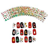 christmas CCbeauty 3D Christmas Design Nail Sticker for Women DIY Nail Art Stickers Decals Snowflakes Snowmen Santa Manicure Decoration Nails Accessories,12 Sheets