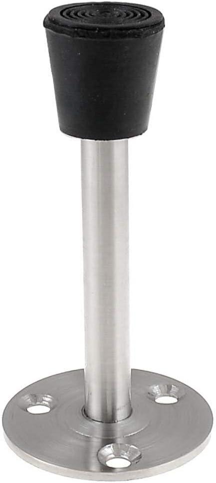 Silver Tone Wholesale and NewFloor Mounted Door Stop Stopper Bumper 3.54-Inch