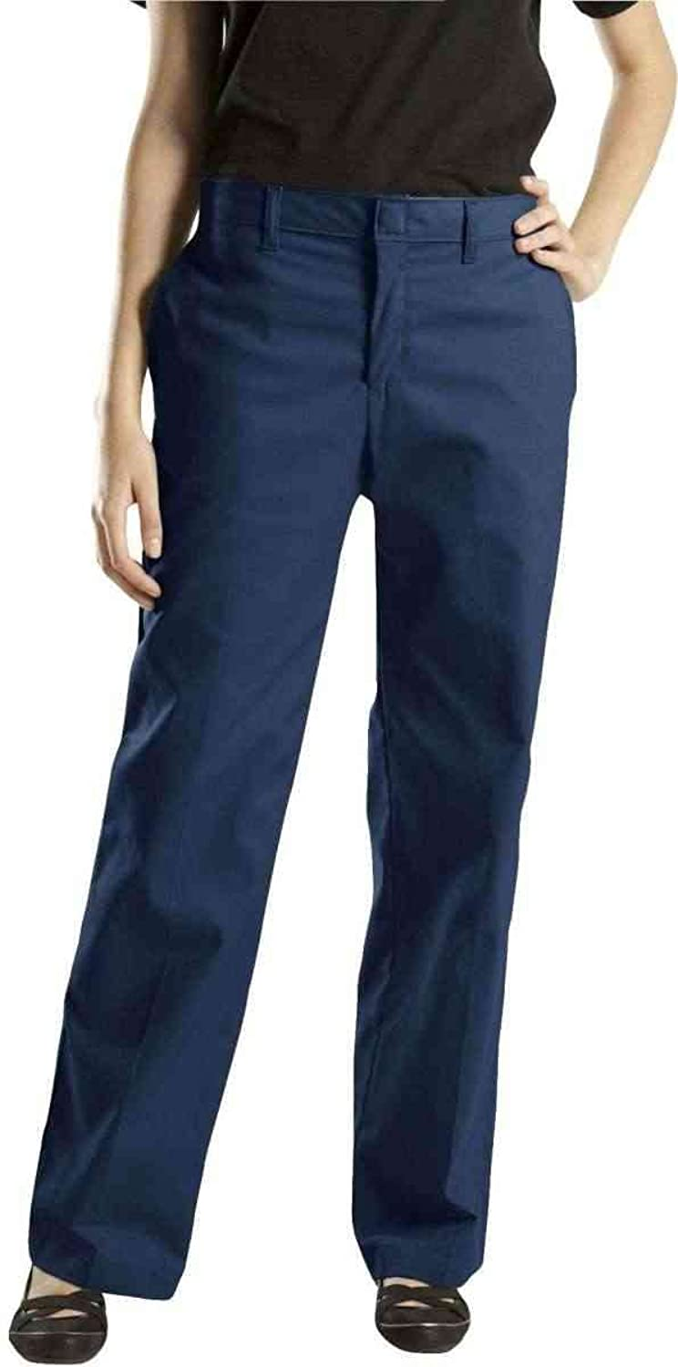 Dickies Women's Premium Relaxed-fit Flat-front Pant, Dark Navy - FP221DN 0