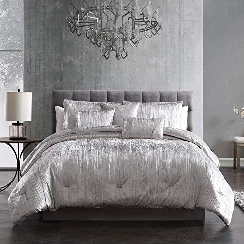 Riverbrook Home Turin Comforter Set, King, Silver 7 Piece