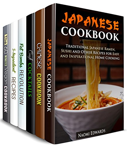 Claire Cocktail - Home Cooking with a Twist Box Set (6 in 1): Japanese, Chinese, Vegan, 5-Ingredient Recipes, Fat Bombs, Best Cocktails to Bring Inspiration to Your Kitchen (Homemade Favorites )