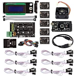 SainSmart RAMPS 1.4 3D Printer Starter Kit with Mega2560 + A4988 + LCD 2004 with Controller + Mechanical Endstop for Arduino RepRap *PDF Tutorials Provided*
