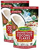 Let's Do Organic Coconut Flakes, Unsweetened and Gluten-Free, 2-Pack (7 Oz. Ea, 14 Oz. Total)