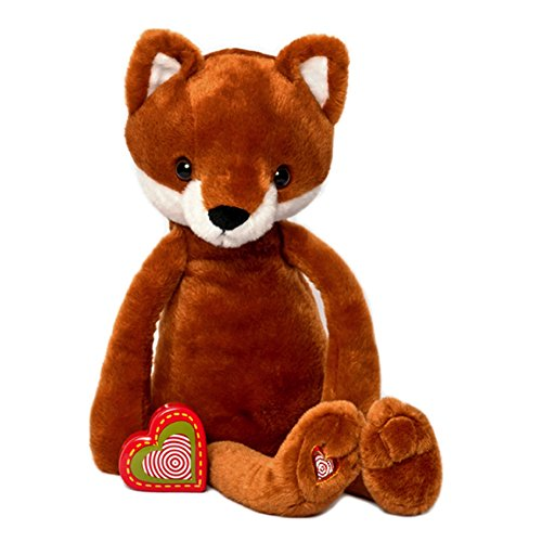My Baby's Heartbeat Bear - Vintage Stuffed Fox with a 20 Second Voice/Sound Recorder Keeps your baby's Ultrasound Heartbeat Safe! - Vintage Fox