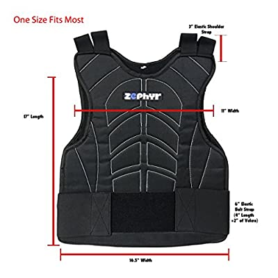 Zephyr Pro Padded Chest Protector Combo Package - Paintball, Airsoft, Etc. - Small / Medium Gloves