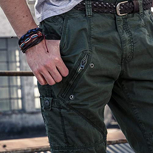 Army Work Military Hombre Pantalones Combat Cargo De Armygreen Ssige Battercake Jeans Con Cómodo Ssen Largos wHOqSRpwnx