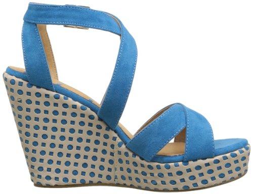 Elle Passy Damen Sandalen Blau - Bleu (Turquoise)