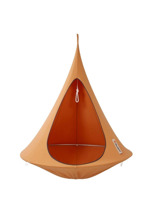 Cacoon Single Orange Mango orange Hängematte Hängesessel Sonnenschutz Gartenmöbel Relaxliege Hängeliege Outdoor Indoor Garten