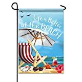 "Life is Better at the Beach 12.5""x18"" Garden Flag - Double Sided Decorative Outdoor Flag"