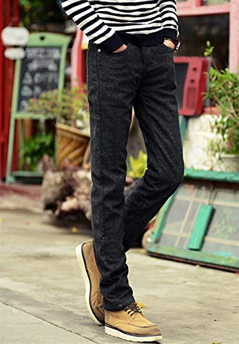 Addensanti Nero In Denim Giovane Winter Regular Fashion Pantaloni Saoye Da Di Uomo Warm Slim Stretch Base Design qzxZapgv