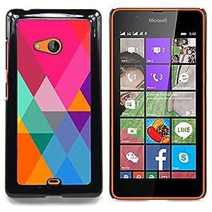 - Pink Teal Orange Polygon Pattern Triangle - - Monedero pared Design Premium cuero del tir???¡¯???€????€??????????&f