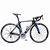 VTSP VS-750 Carbon Fiber Frame 22 Speeds Road Bike 56cm Shimano 700X23C M5800 105 Pro C Brakes System Road Racing Bike For Man (Black-blue) For Sale