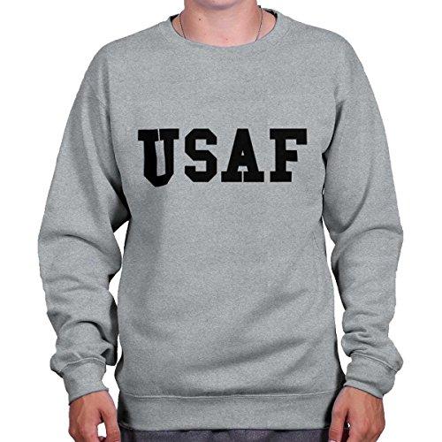 Brisco Brands Military USAF USA Shirt | Airforce 2nd Amendment Patriot Gun Sweatshirt Patriots Crewneck