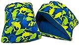 Swim School Fabric Arm Floats - Sharks - Green/Blue - small/Medium 25-40 lbs