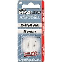 Lámparas de repuesto Maglite para mini linterna AA de 2 celdas, paquete de 2