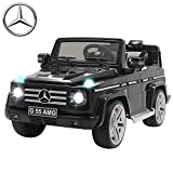 Uenjoy Mercedes Benz AMG G55 12V Kids Electric Ride On Car, Battery Power Motorized SUV, Remote Control, Suspension,Lights, AUX in, Music, Larger Size, Black